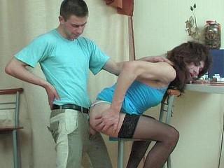 Bobbie&Alan femaleclothed crossdresser in action