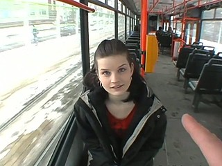 Czec girl on a subway taken to a basement and fucked