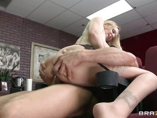 blonde teacher giving sex demonstration