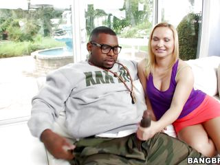 German milf Katja is mad about large black cocks and this hunk has exactly what she needs. He presents her his huge ramrod and Katja can't aid herself not to have a taste of it. She's all turned on now and bows over in front of his ramrod to acquire her wazoo ripped from behind. Keep on watching and enjoy!