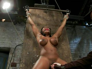 white stud slapping ebony hottie before tormenting her pussy