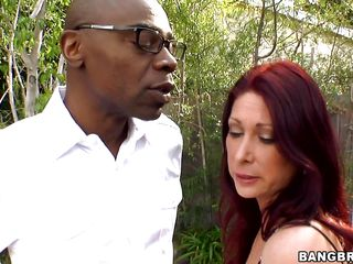 Sexy MILF Tiffany Mynx is hell of a bitch. Her dong craving attitude is so sexy then no one could avoid it. When she got this black monster dong she didn't leave the chance. She sucked it and took it to her deep throat. Dripping with her saliva, the black dong it willing to go inside her juicy wide ass!