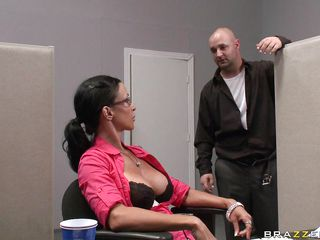 johnny sins gets caught masturbating and copulates a employee