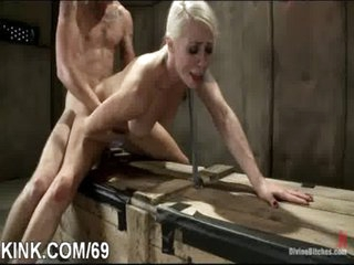 Giant tits, unrepining housewife, dominated, bound