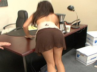 Sexy brunette office beauty Ann Marie Rios