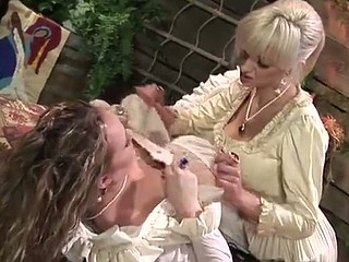 Golden-haired lesbo fun with Amber Peach, Frankie