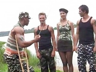 Hard fuck girl from russian army