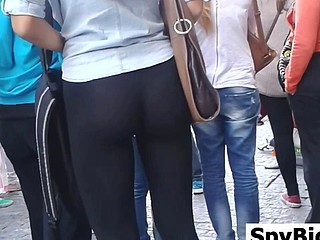 Great Ass In Darksome Leggings Spied On