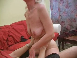 Granny Inga with saggy tits acquires fucked.