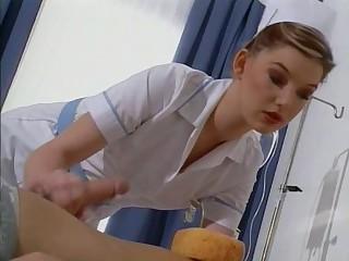 British slut Sarah gets drilled dressed as a nurse