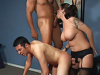 Big-Titted pussy has sex pair bisexuals