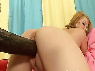 Cute Mailey Jane's muff nearly explodes after a godzilla dick is stuffed in there!