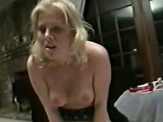Horny blonde smiles and furiously screams when her hairy pussy lips pull apart to acquire mighty pecker inside! The hardest amateur movie!