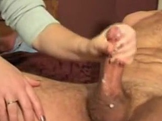 Private porn with a marvelous wife doing great handjob