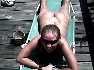Fellatio and cum in mouth outdoors