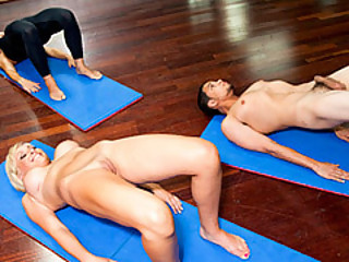 Yoga Session With The Nice-looking Lexi Swallow