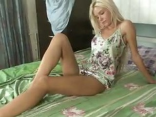 Petite blond gets nasty with her toy