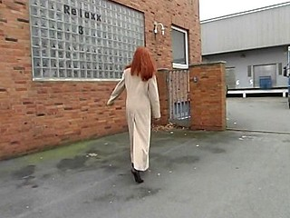 Cute redhead blows and then gets her wet slit banged hard