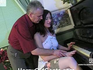 Jaclyn&Caspar oldman and youthful lady