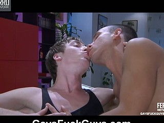Curious str8 guy receives a smack of manmeat previous to impaling a hot gay a-hole