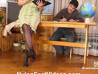Isabella&Adam horny nylon feet movie scene scene
