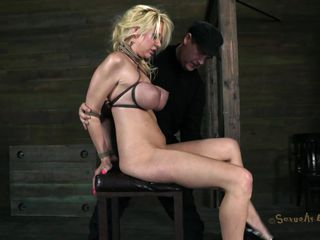 busty blond treated like a sex toy