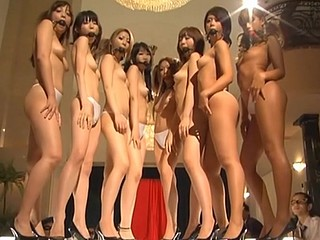 Asian whores with mouthes filled posing totally naked