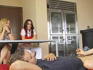 Kinky blonde teacher is making sure that her students are fucking right