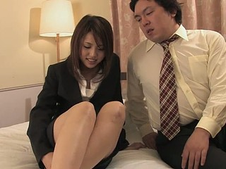 Obscene Rino Mizusawa enjoys riding a hard jock