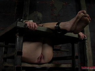 Slavish whore is getting her drilled with the thrilling vibrator