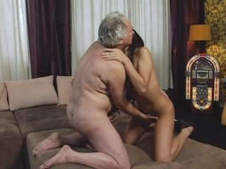 Gorgeous Teen and Mature Man