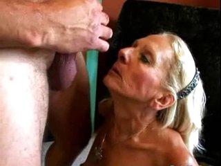 Wrinky and Unshaved Granny engulf and fuck