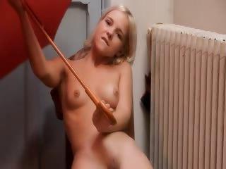 cheerleader fucking a red umbrella