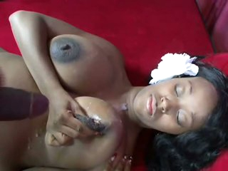 Preggo Ebony Babe Gives Him Milk