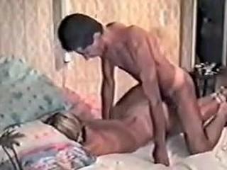 Blond in stolen homemade BDSM tape