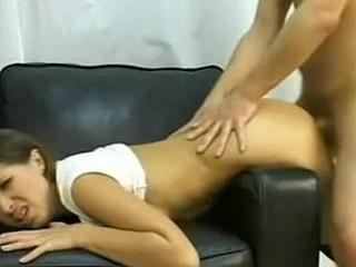 Girlfriend's virgin anus receives destroyed