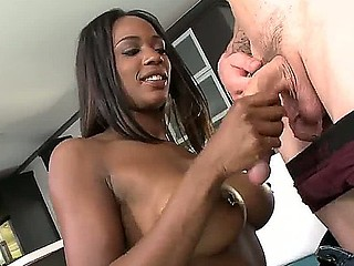 Lusty cock loving dark whore Janine
