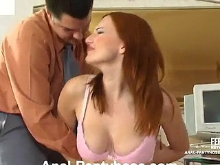 Marion&Adam videotaped during the time that pantyhosefucking anally
