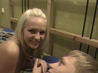 Hot blondie is pounded