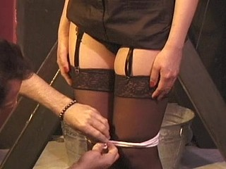 Powerless hotty gets abased