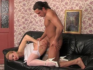 Anna&Harry sexual nylon action