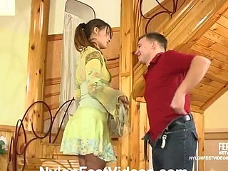 Clothilda&Peter wicked nylon feet movie