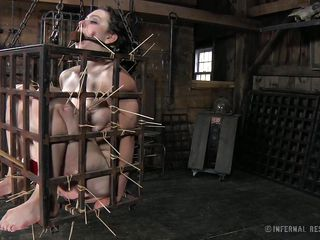That's what she deserves for being a fucking whore. Brunette milf Dixon is now in a tiny bondage cage and her goddess shows her no mercy as she uses her devilish skills to punishment her. Dixon is in pain but she will have to endure a lot more. Curious what? The watch some greater amount and delight yourself!