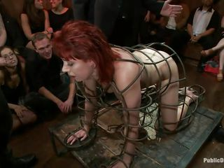 redhead milf in a cage abased and screwed