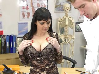 Anastasia Brill is a 20 years old romanian babe with long black hair biggest awesome boobs and big hot ass. This horny doctor not fast takes her clothes off as this guy enjoys her valuable hot body. Then this slutty brunette goes down and gives the doc some great head. Will the doctor acquire some of her ass?