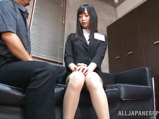 She is a brunette teacher with a hawt body underneath those sexy clothes. After a short talk with this man she ends down on her knees and with his dick in her mouth. The fact that this chab is treating her like a cheap bitch and the feeling of his pecker in her mouth makes her horny. She likes being humiliated like a bitch