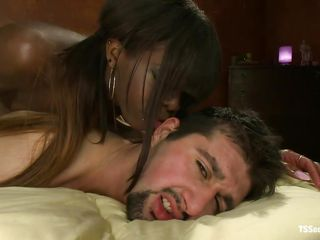 interracial deep anal with ebony lady-man