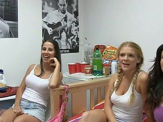 Lusty workout with lesbian hotties