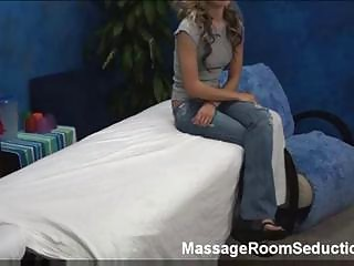 Hot hotty in massage room