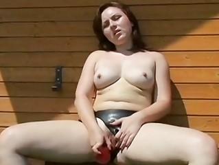Strap-on doxy wishes mouthful of sexy jizz